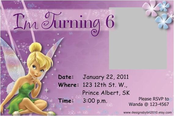 tinkerbell birthday invitation free