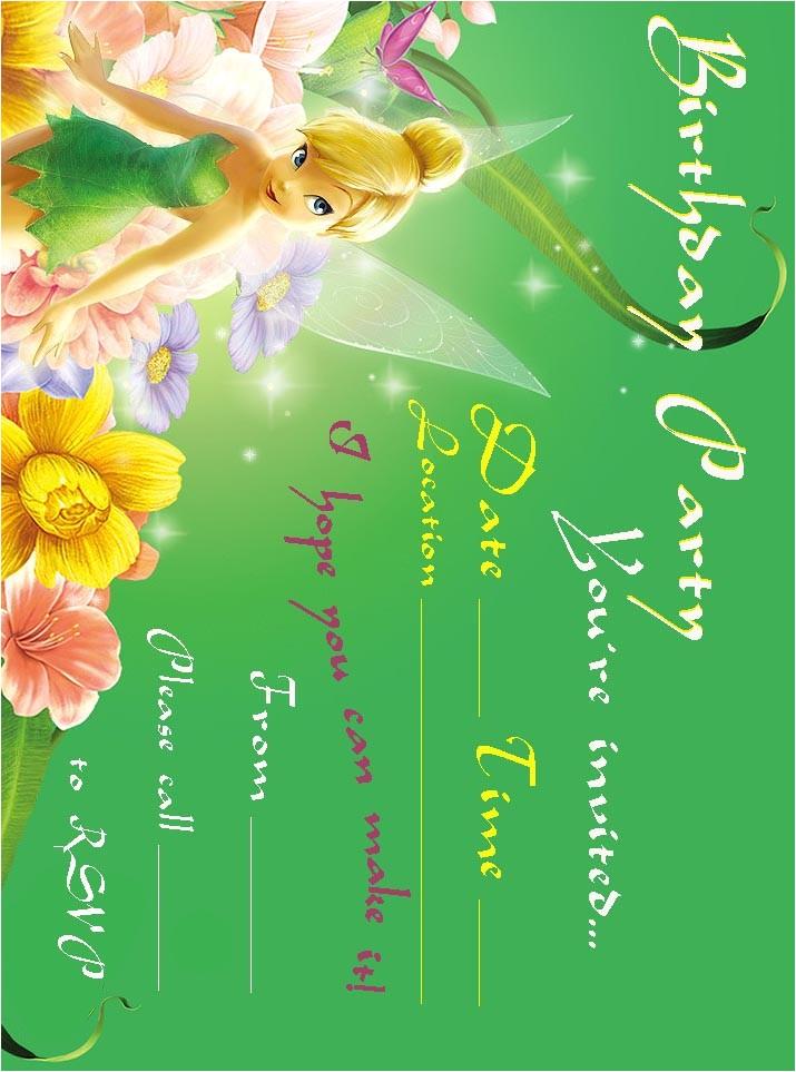 tinkerbell birthday party invitation