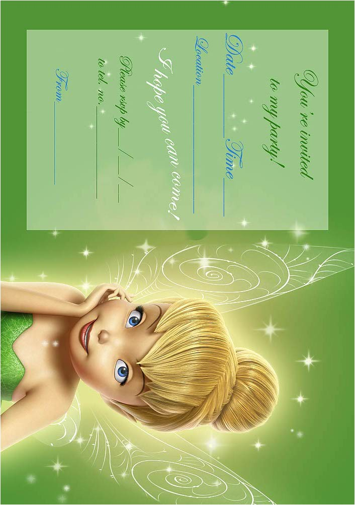 Free Tinkerbell Printable Birthday Invitations Tinkerbell Birthday Party Invitation Printable Best Gift