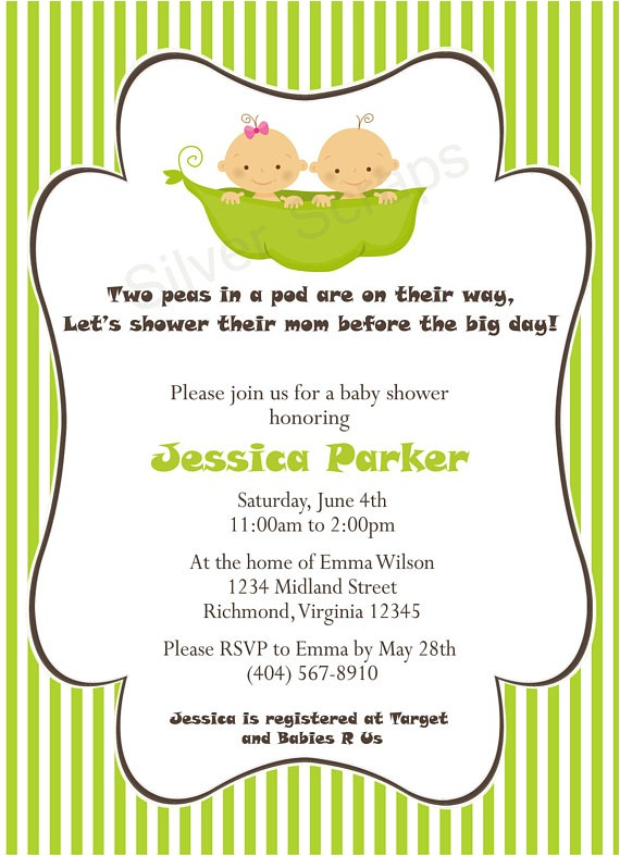 two peas in a pod custom baby shower