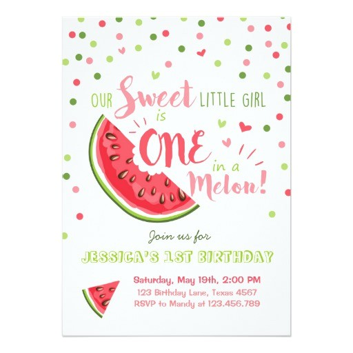 watermelon birthday invitation melon summer party