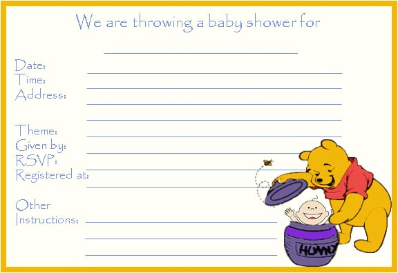 14 heart warming winnie the pooh baby shower invitations