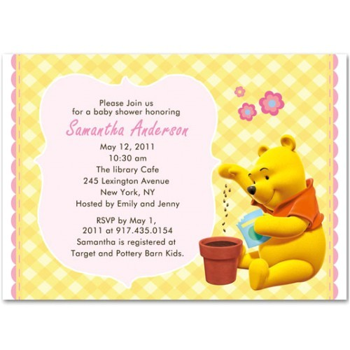 Free Winnie the Pooh Baby Shower Invitations Winnie the Pooh Baby Girl Shower Invitations Bs104
