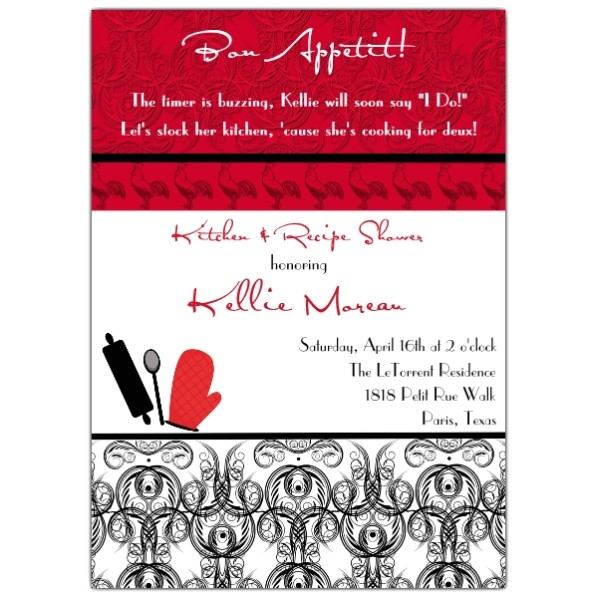 French Country Kitchen Shower Invitations p 606 57 FR