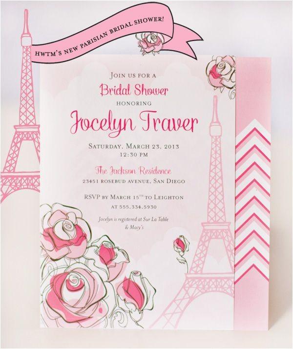 paris bridal shower