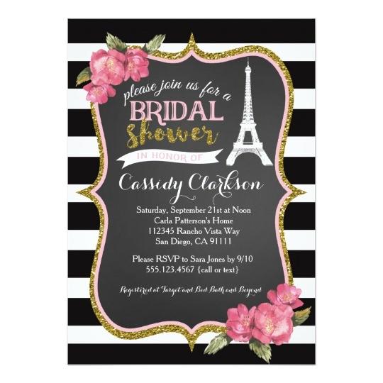 french paris bridal shower invitation 256385364557817005