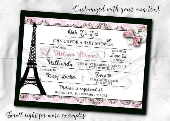 french themed party invitations invite envelope