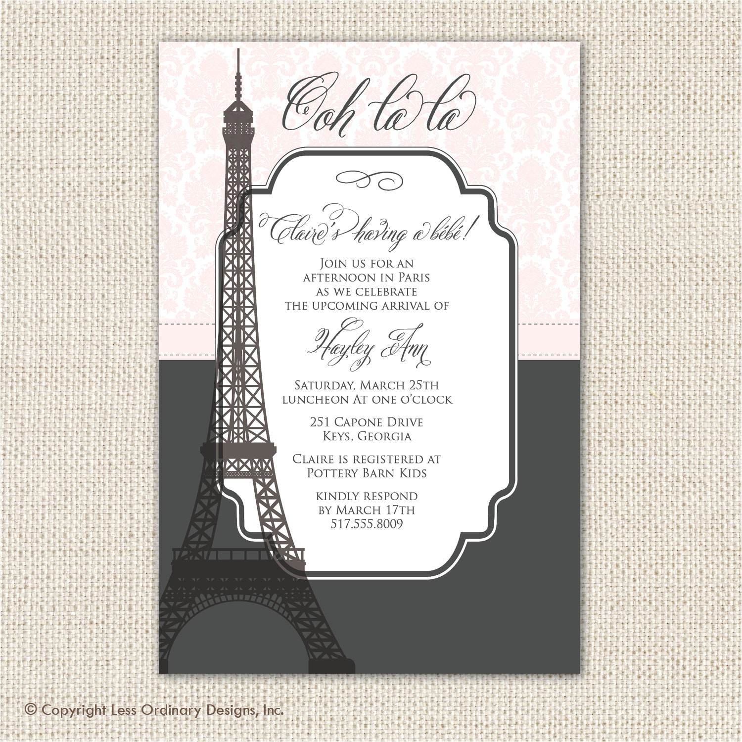 paris themed baby shower or wedding