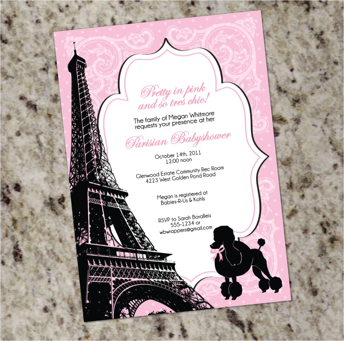 pretty in pink paris themed baby or