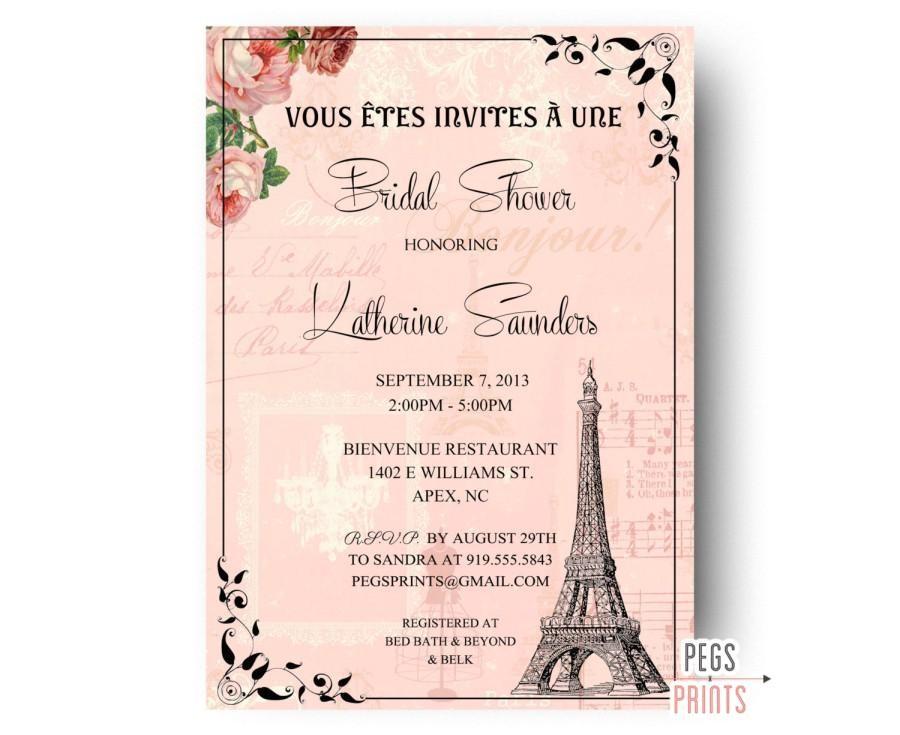 paris bridal shower invitation printable paris themed invitations parisian bridal shower invitations paris theme bridal invitation