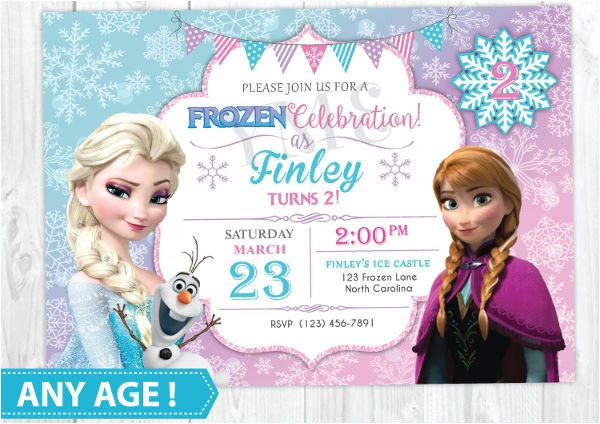 frozen invitation template