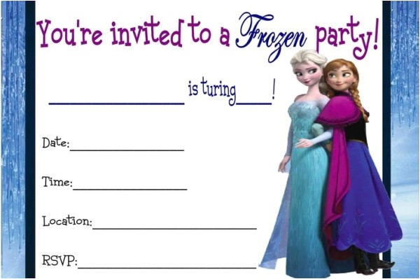 post frozen birthday invitations printable