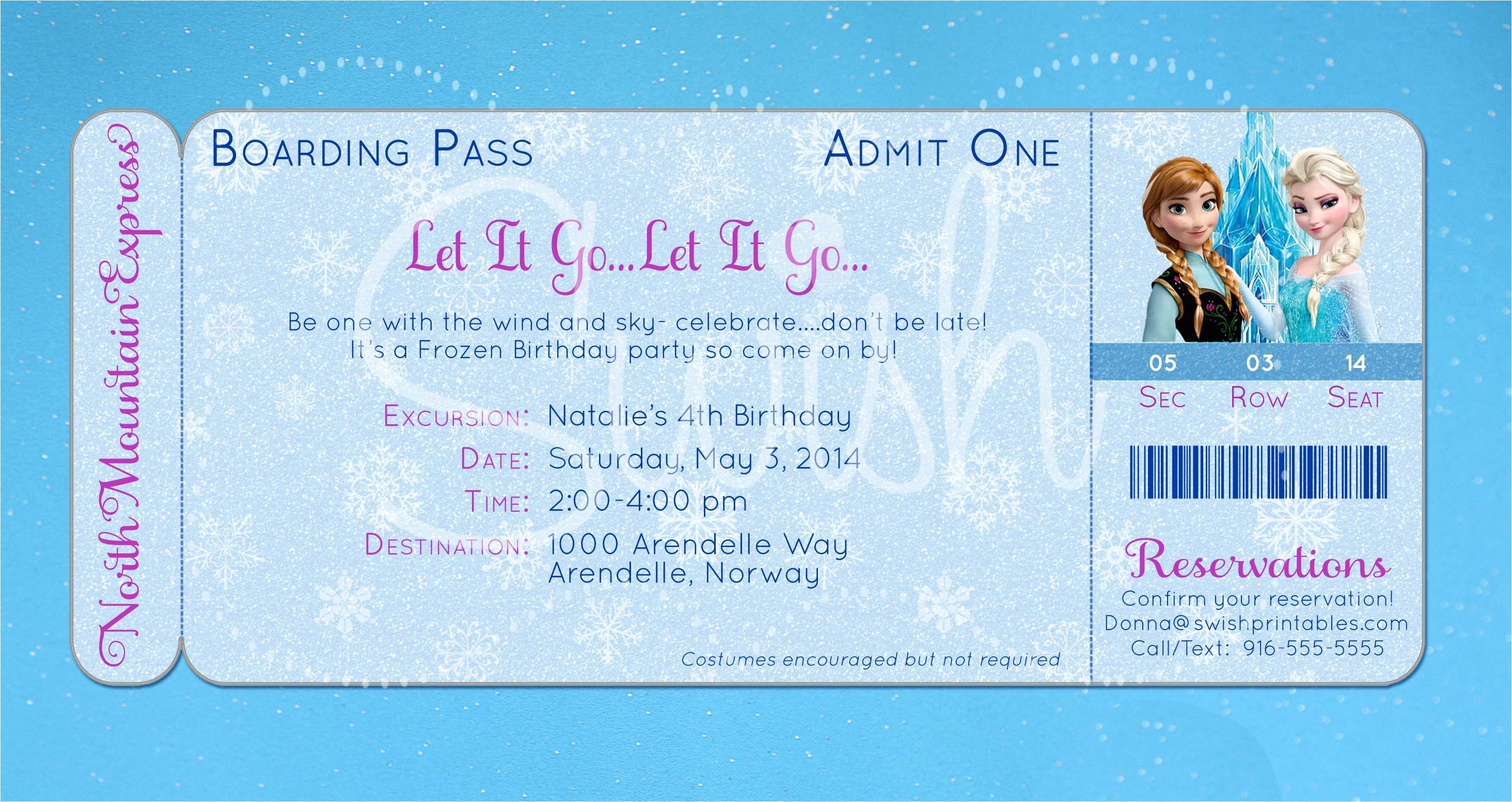post frozen birthday invitations printable template