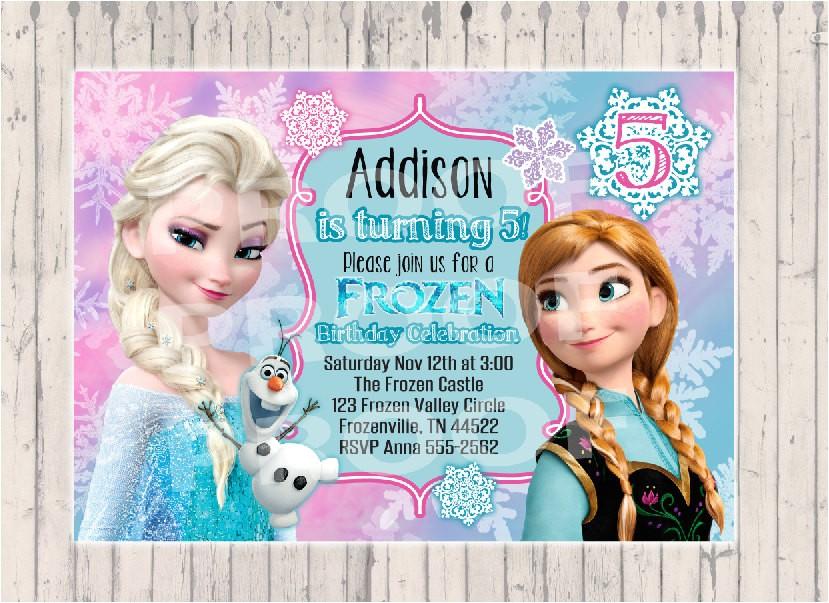 frozen birthday invitation custom design