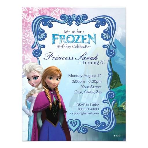 frozen birthday invitation 161892948793506884