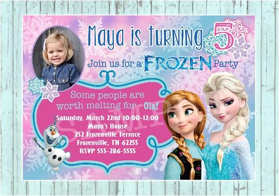 Frozen Customized Birthday Invitations Items Similar to Frozen Birthday Invitation Custom