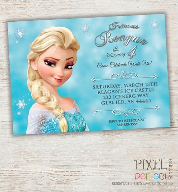 frozen printable invitation custom
