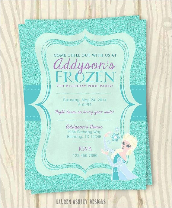 Frozen Electronic Birthday Invitation Anna and Elsa Electronic Invitations Party Invitations Ideas