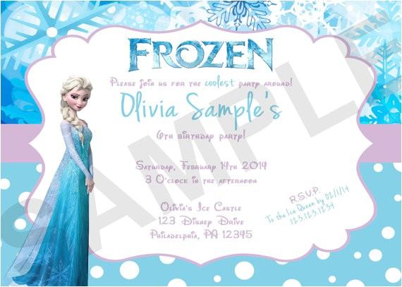 digital frozen birthday invitations