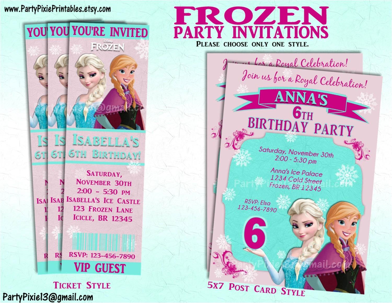 disney frozen party invitation andor