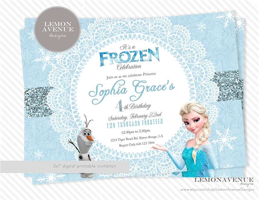 frozen party invitation ideas