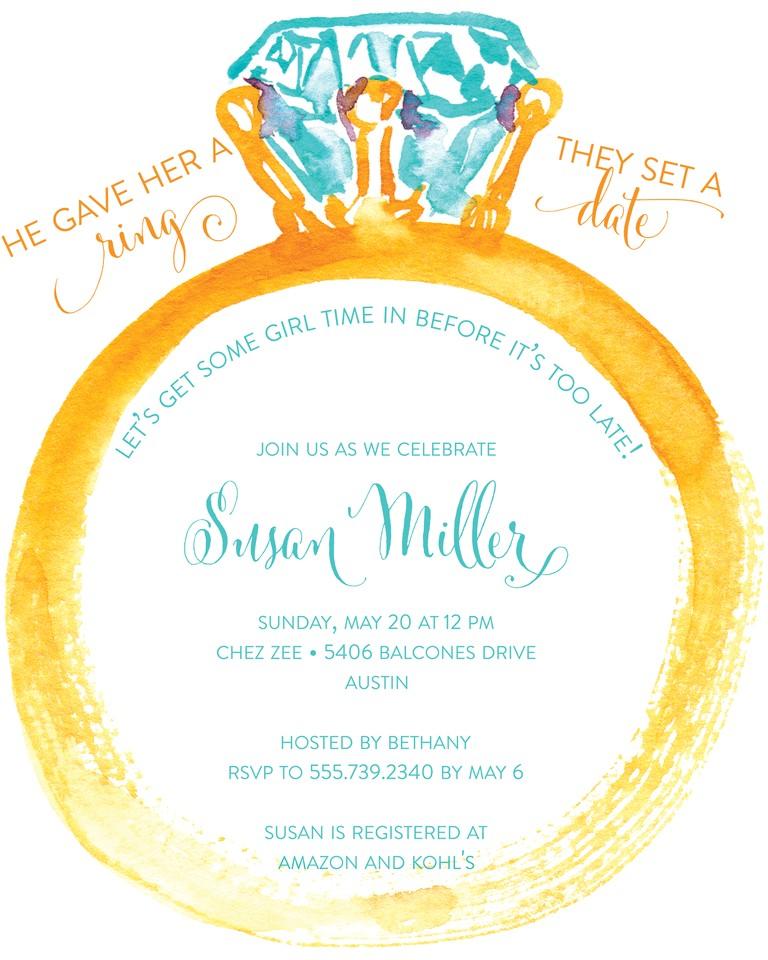 Fun Bridal Shower Invitation Templates Bridal Shower Invitation Wording Ideas and Etiquette
