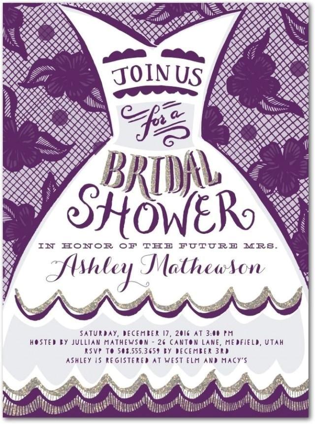 dressed for fun signature white bridal shower invitations in black or baltic elk design