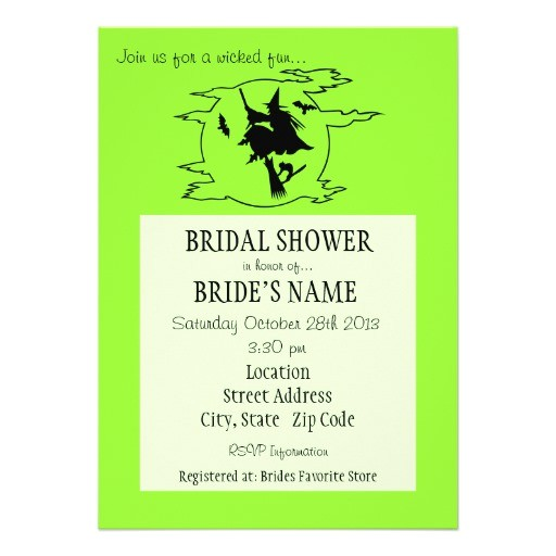 wicked fun bridal shower invitation 161645404432039861
