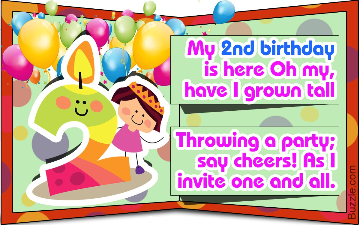 birthday invitation wording for 2year old