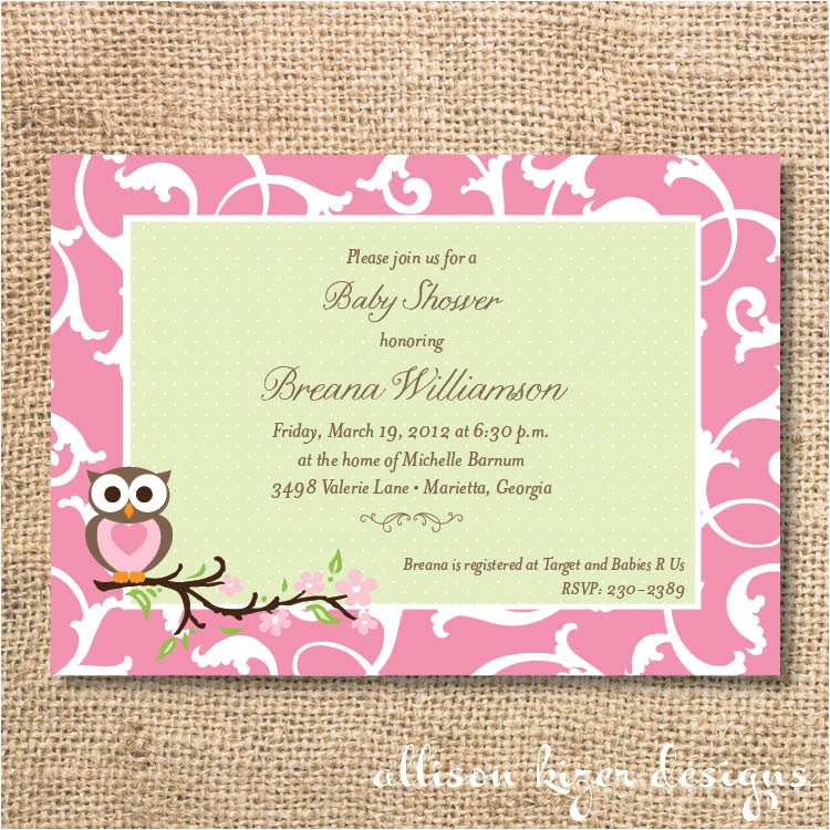 t registry wording for baby shower invitations