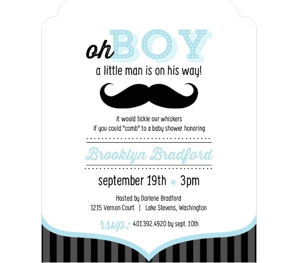unique baby shower invitation