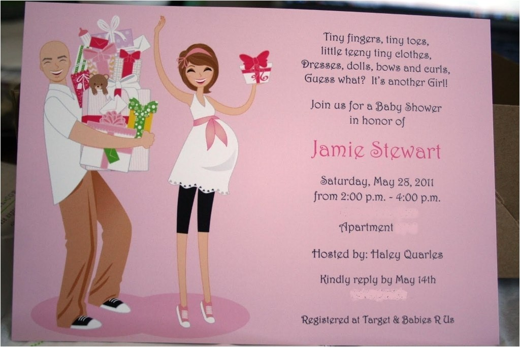 couples baby shower invitation wording template