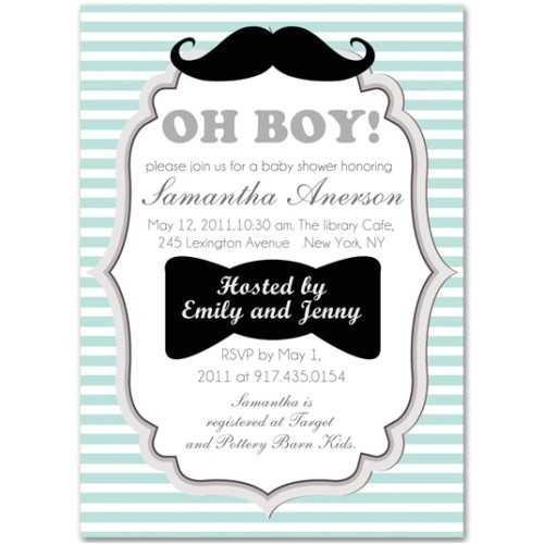 cool and funny baby boy shower invitations bs228