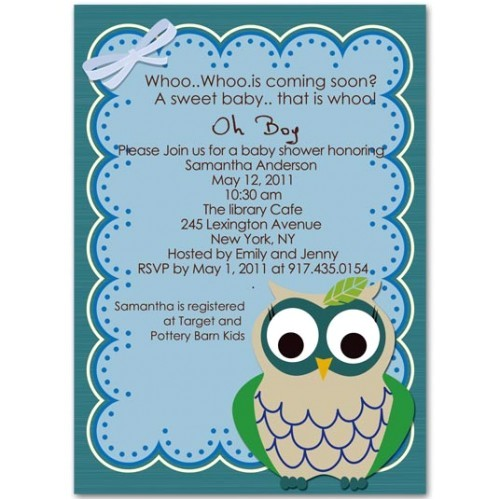 funny and adorable owl baby shower invitations bs221