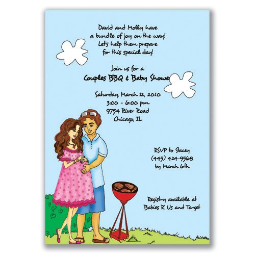 couples baby shower invitations wording