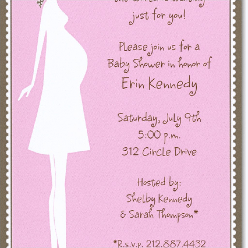 funny baby shower wording for invites