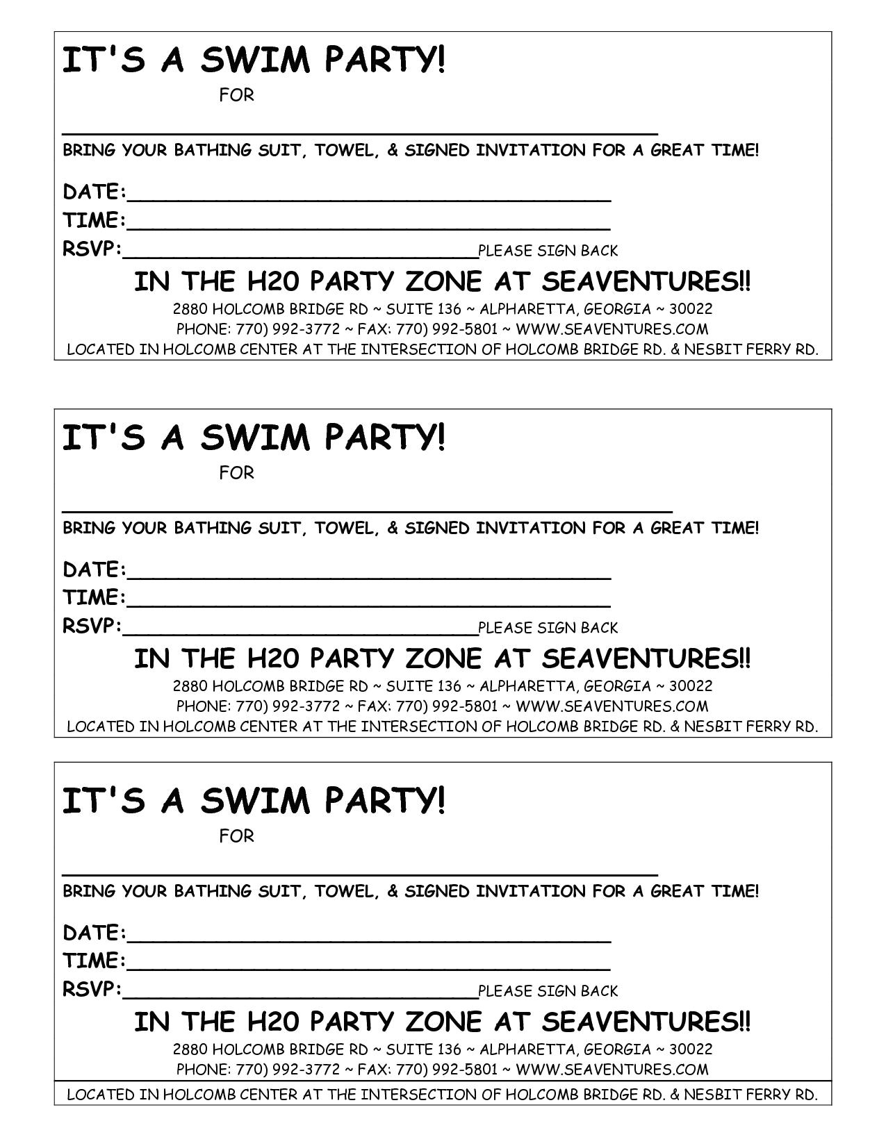 email party invitations