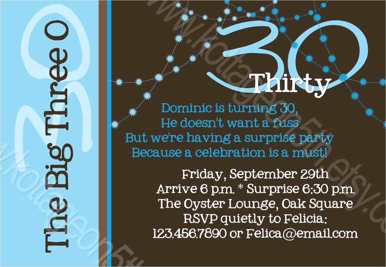 funny 30th birthday party invitation wording