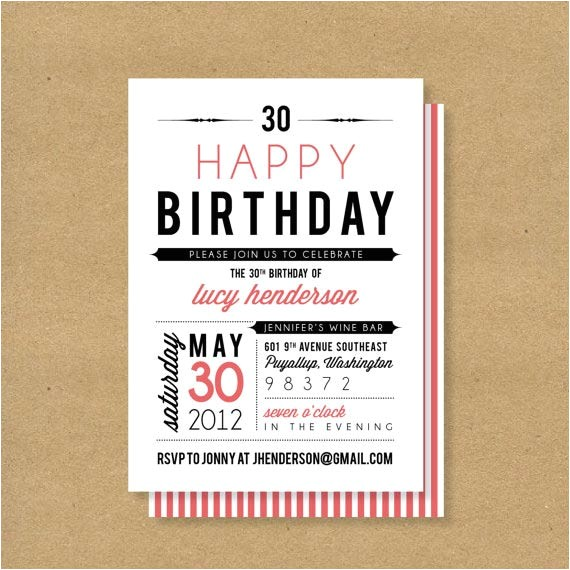 2 outstanding photo birthday invitations for adult