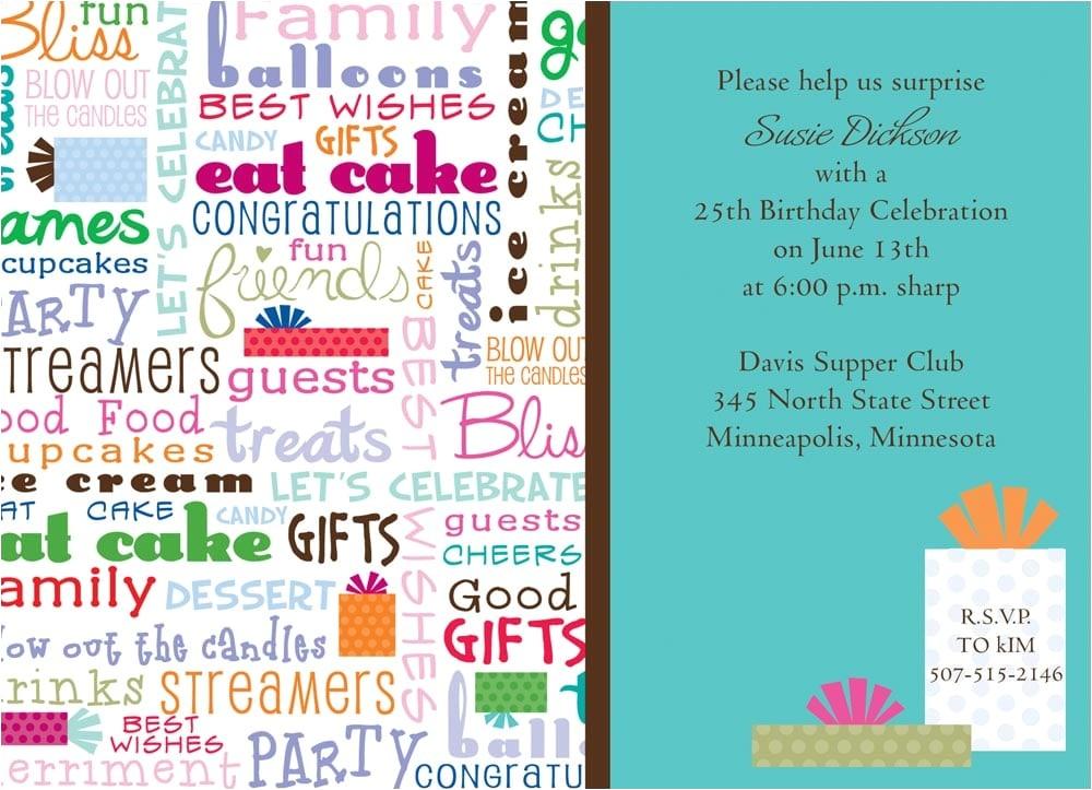 funny birthday invitation