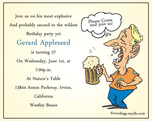 funny birthday party invitation wording