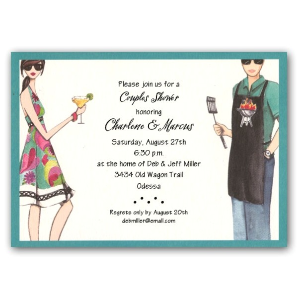 grilling fun couples shower invitations clearance p 240 gii