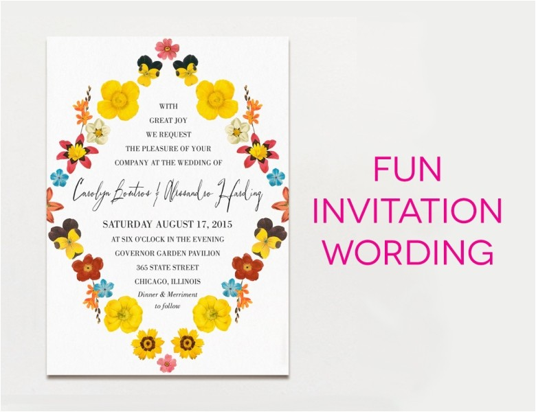 wedding invitation word wedding invitation wording creative and traditional a practical 4