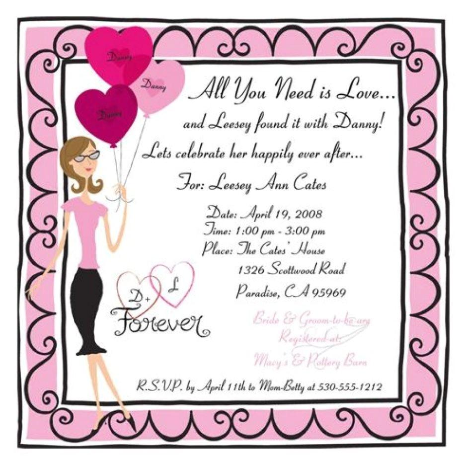 funny bridal shower invitation wording ideas