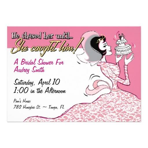 funny retro bridal shower invitation template