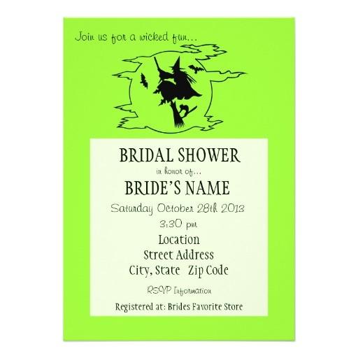 wicked fun bridal shower invitation