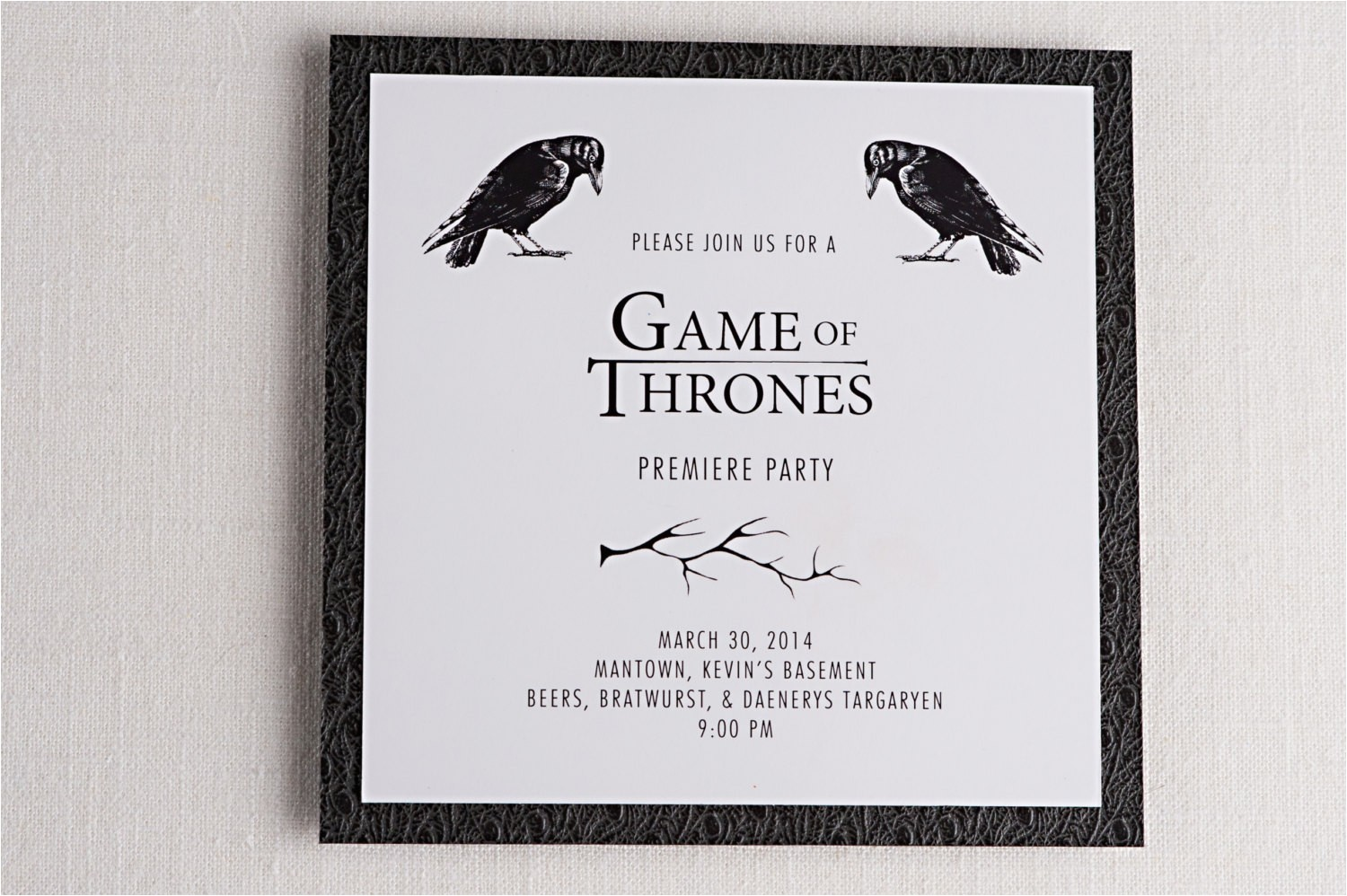 Game Of Thrones Birthday Invitation Game Of Thrones Party Invitation Cimvitation