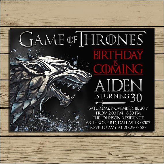 game of thrones invitation game of