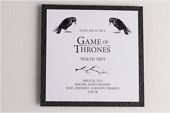 game of thrones inspired premiere party
