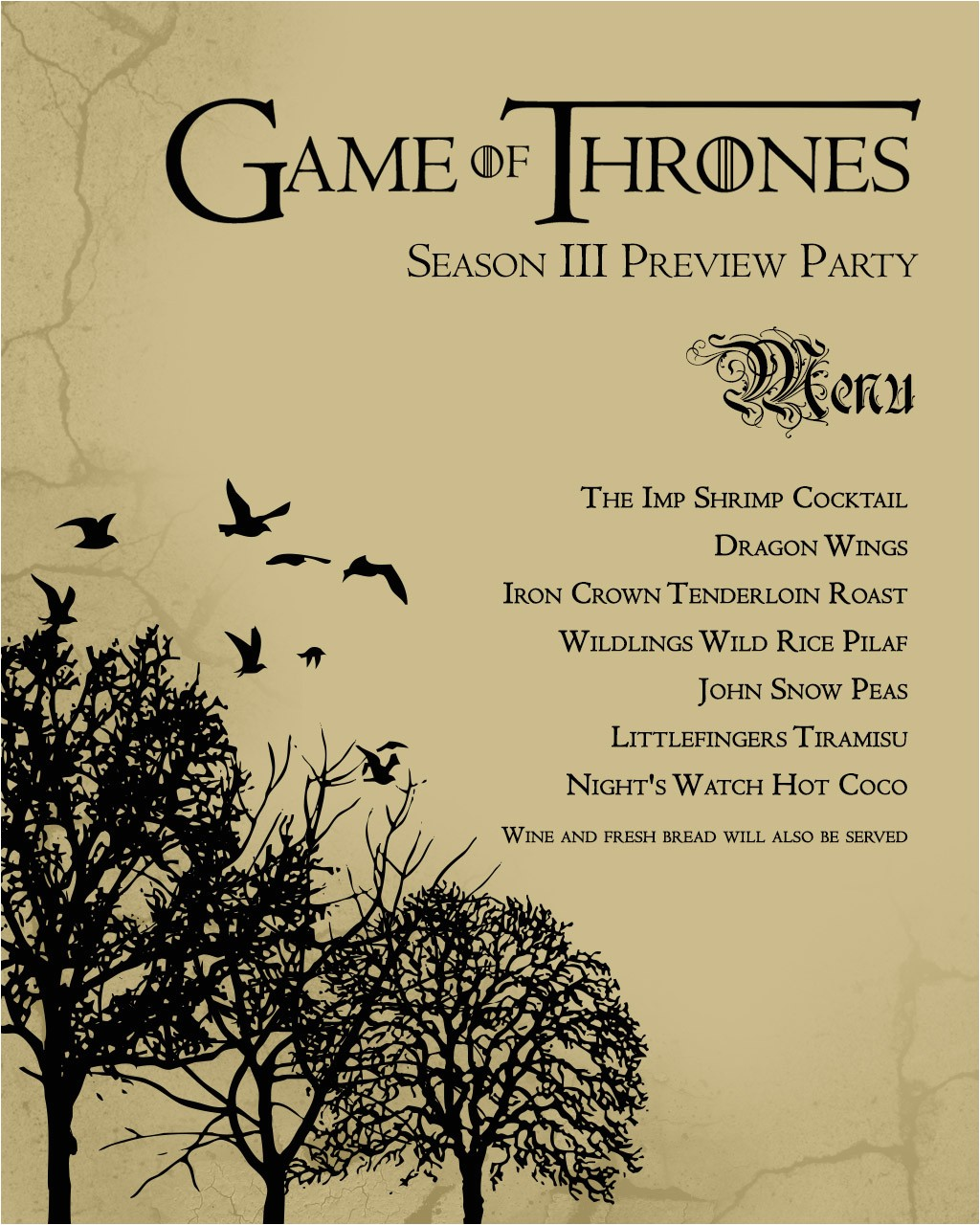 game of thrones s3 preview party